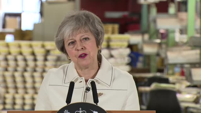 theresa may urges mps to back her brexit deal ahead of crucial vote england staffordshire stokeontrent portmeirion group int theresa may mp speaking... - theresa may stock videos & royalty-free footage