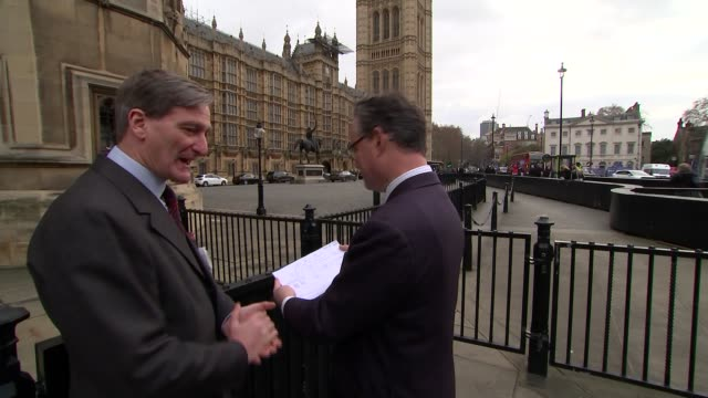 theresa may urges mps to back her brexit deal ahead of crucial vote england london int andrew mitchell mp interview sot dominic grieve mp setup shots... - dominic grieve stock videos and b-roll footage