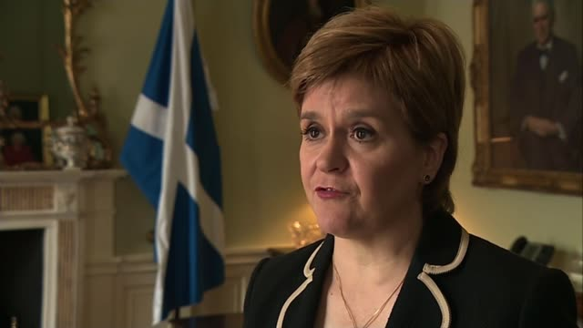 theresa may visits edinburgh for talks with nicola sturgeon; scotland: edinburgh: int nicola sturgeon msp interview sot. - every day that passes just... - member of the scottish parliament stock videos & royalty-free footage