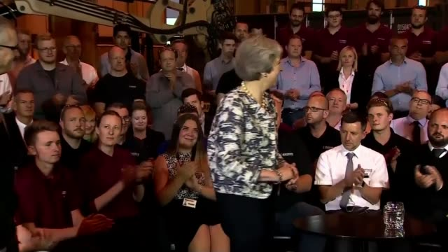 theresa may visits gateshead / risks of nodeal for the northeast england tyne and wear newcastle long shot theresa may mp chatting with people in... - gateshead stock videos and b-roll footage