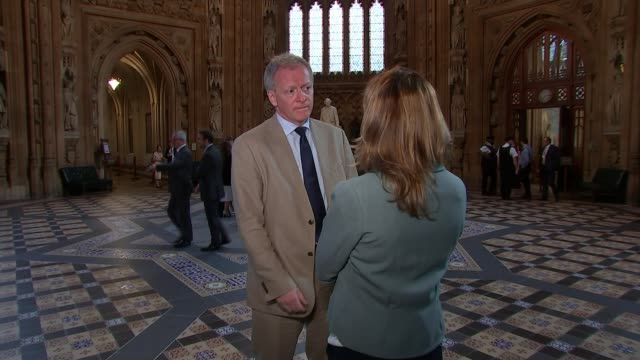 Theresa May wins crucial customs union vote by just six votes UK London Westminster Houses of Parliament Phillip Lee interview ENGLAND London...