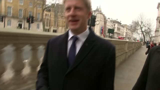Theresa May's Brexit deal under continued pressure from both sides ENGLAND London Whitehall Jo Johnson MP along London Justine Greening MP from house