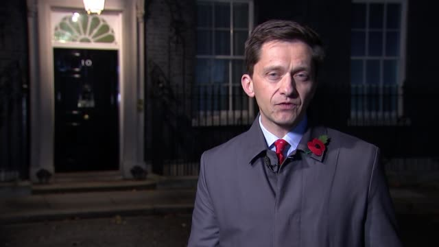 Theresa May's Brexit deal under continued pressure from both sides ENGLAND London Westminster Downing Street Reporter to camera