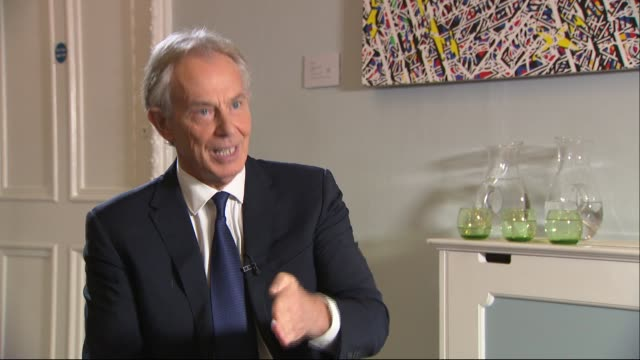 tony blair interview england london int tony blair interview sot on the withdrawal agreement on a general election and a second referendum on may's... - tony blair stock videos and b-roll footage