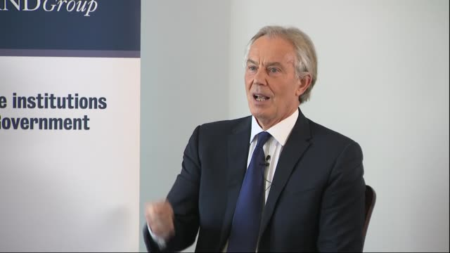 tony blair speech and question and answer session england london westminster int tony blair question and answer session sot - tony blair stock videos and b-roll footage