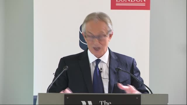 tony blair speech and question and answer session england london westminster int tony blair speech sot - tony blair stock videos and b-roll footage