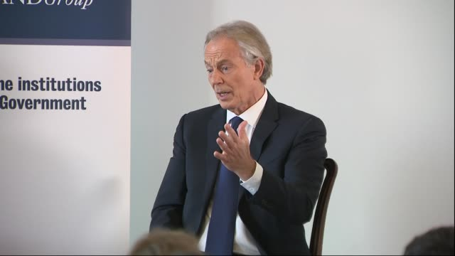 tony blair speech and question and answer session england london westminster int tony blair question and answer session sot / blair away - tony blair stock videos and b-roll footage