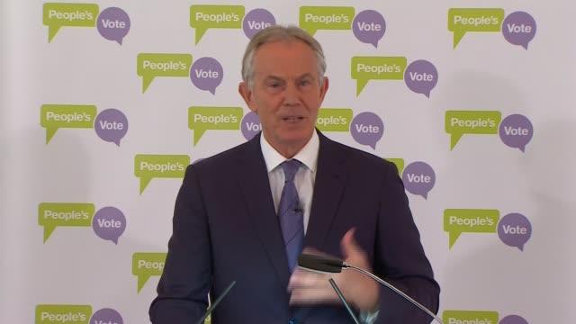 Tony Blair speech at The British Academy ENGLAND London Westminster The British Academy Tony Blair speech SOT See if majority consensus develops if...