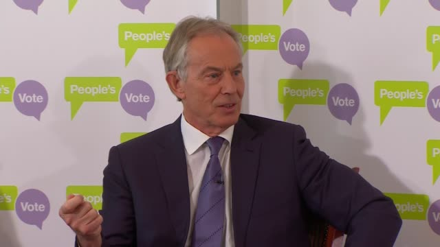 Tony Blair speech at The British Academy ENGLAND London Westminster The British Academy Tony Blair question and answer session SOT Across Europe...