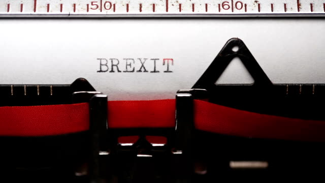 brexit - typing with an old typewriter - brexit stock videos & royalty-free footage
