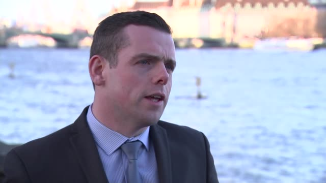UK and EU agree Brexit transition deal ENGLAND London EXT Douglas Ross MP interview SOT
