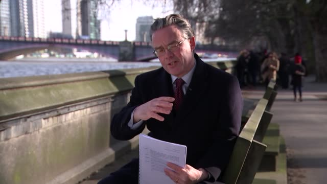 UK and EU agree Brexit transition deal ENGLAND London Westminster EXT Reporter to camera