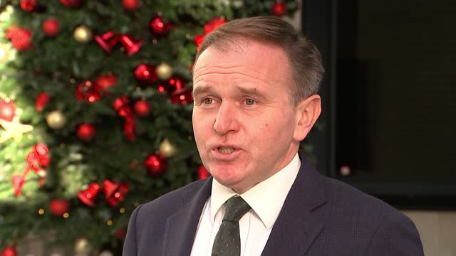 stockvideo's en b-roll-footage met trade talks resume as chief negotiator lord frost arrives in brussels; england: london: ext george eustice mp interview excerpt sot - of course, if... - politics
