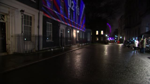 united kingdom leaves the european union alternative angle of downing street light show england london downing street red white and blue lights and... - countdown stock videos & royalty-free footage