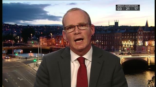 united kingdom leaves the european union ireland reaction ireland dublin int simon coveney interview sot england london westminster / ireland dublin... - キャシー・ニューマン点の映像素材/bロール