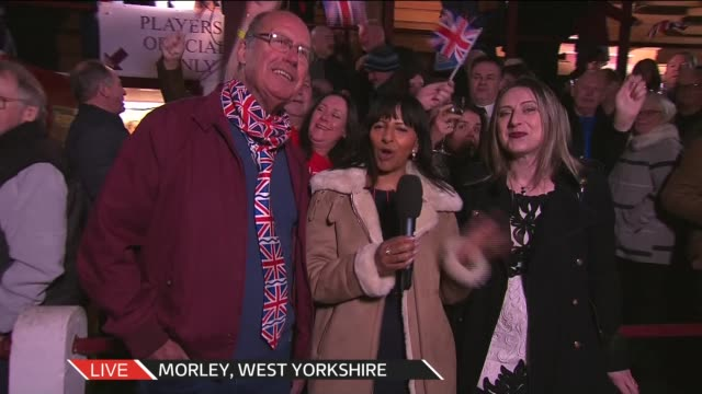 united kingdom leaves the european union itv news brexit live special england london gir news presenter tom bradby to camera sot west yorkshire... - singing stock videos & royalty-free footage