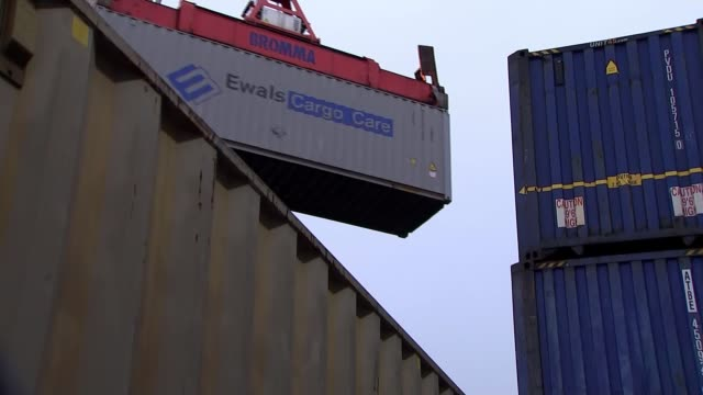 views on nodeal scenario from northumberland uk northumberland blyth general views port of blyth / martin lawlor interview england northumberland... - crane stock videos & royalty-free footage