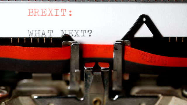 brexit : what next - typing with an old typewriter - brexit stock videos & royalty-free footage