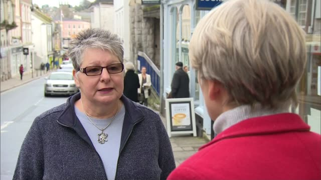 Withdrawal agreement voted down Views from Leave and Remain voting areas ENGLAND Devon Totnes EXT Karon Morris interview SOT People along street PAN...