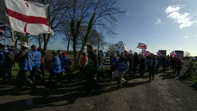 Brexiteers on protest march through Nottinghamshire