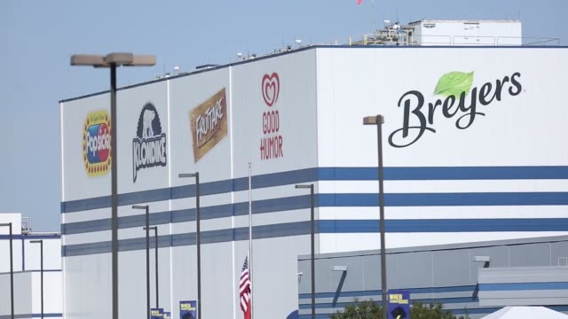 breyers signage is displayed outside the unilever plc ice cream plant in covington tennessee us on tuesday oct 3 photographer luke sharrett shots... - klondike river stock videos and b-roll footage