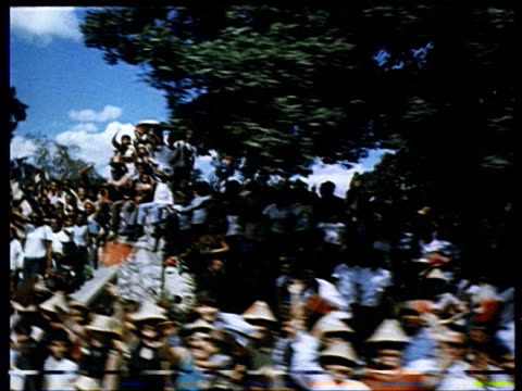 brezhnev in cuba : huge crowds and lots of flags. - 1974 stock videos & royalty-free footage