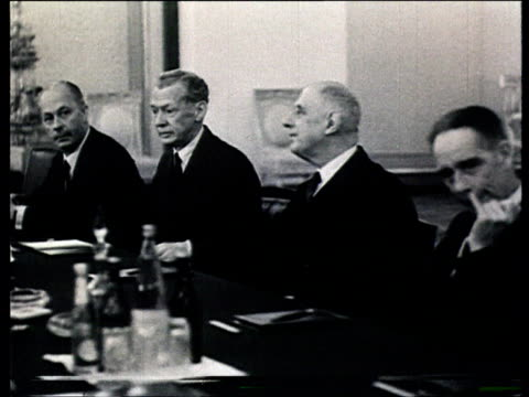 brezhnev meeting w/ de gaulle - charles de gaulle stock videos & royalty-free footage