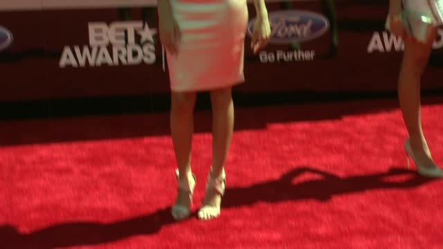 bria murphy at the 2014 bet awards on june 29 2014 in los angeles california - bet awards stock videos and b-roll footage