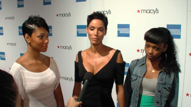 Bria Nicole Shayne and Zola Murphy on Bria's modeling debut at the 27th Annual Macy's Passport Fashion Show Benefit at Santa Monica CA