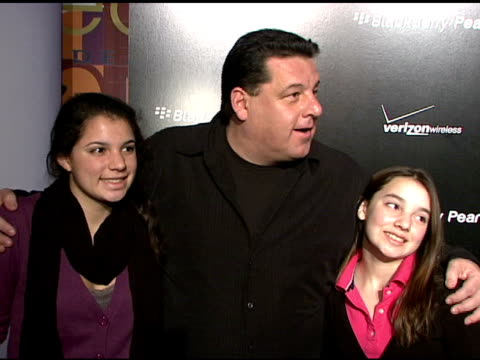 bria schirripa, steve schirripa, and ciara schirripa at the blackberry pearl 8130 launch party at the iac building in new york, new york on january... - electronic organiser stock videos & royalty-free footage