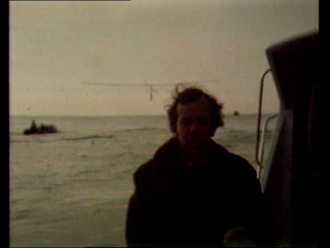 june in 1979 brian allan peddled a plane across the english channel ext brian allan taking off in gossamer albatross and flying over sea off kent... - english channel stock videos & royalty-free footage