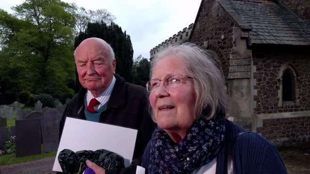 brian and janet kennedy great aunt and uncle of madeleine mccann speak to the media after a service at rothley parish church for madeleine and other... - aunt stock videos and b-roll footage