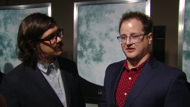 """interview brian c brown elliott diguiseppi on writing the script and expectations of the movie at the """"lucy in the sky"""" los angeles premiere... - fox searchlight pictures stock videos & royalty-free footage"""