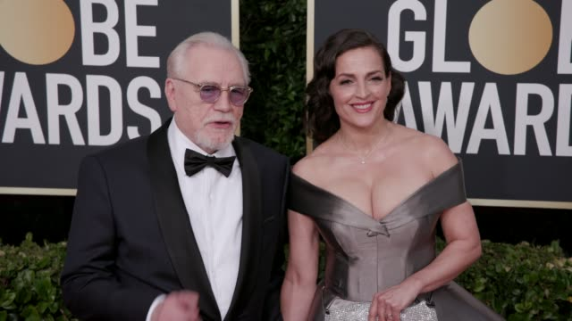 brian cox and nicole asan at the 77th annual golden globe awards at the beverly hilton hotel on january 05, 2020 in beverly hills, california. - golden globe awards stock videos & royalty-free footage