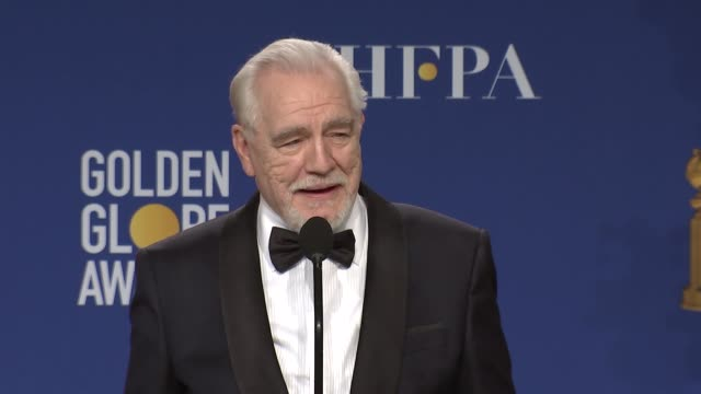 brian cox - at the 77th annual golden globe awards - press room at the beverly hilton hotel on january 05, 2020 in beverly hills, california. - golden globe awards stock videos & royalty-free footage