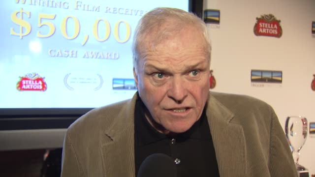 brian dennehey on coming out to support kevin why it is important for stella artois and triggerstreetcom to honor these young film makers talks about... - brian dennehy stock videos & royalty-free footage