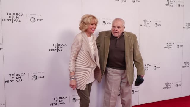 brian dennehy and christine ebersol attend the driveways screening during the 2019 tribeca film festival at village east cinema on april 30 2019 in... - brian dennehy stock videos & royalty-free footage