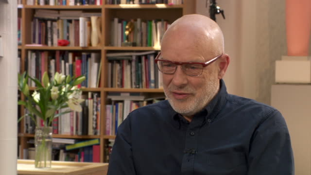 "brian eno saying it has been difficult to make an assessment on jeremy corbyn as there has been such a ""sustained campaign against him"" from the media - roxy music stock videos & royalty-free footage"