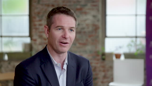 brian forde ceo and cofounder at numero talks about his company's new developments at ethereal summit in new york new york/usa on may 11 2018 - numero stock videos & royalty-free footage