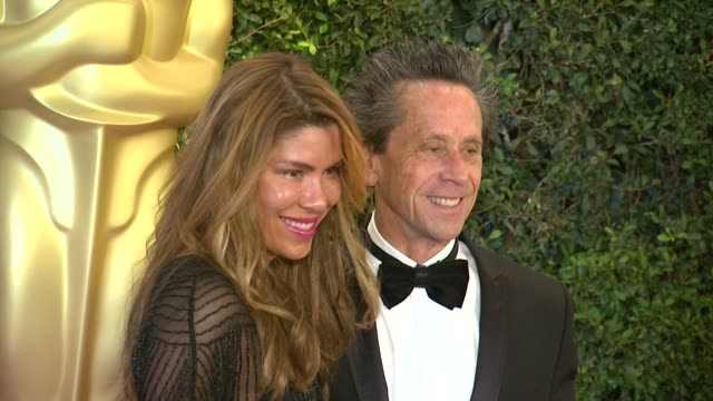 brian grazer at academy of motion picture arts and sciences' governors awards in hollywood ca on - 映画芸術科学協会点の映像素材/bロール