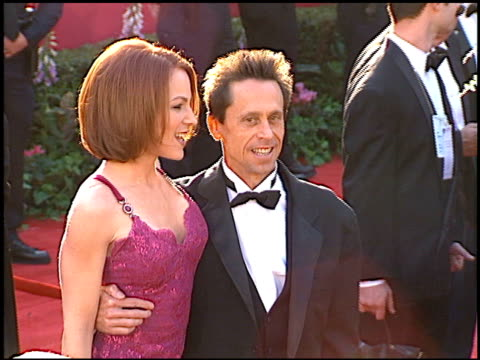 vídeos de stock, filmes e b-roll de brian grazer at the 1996 academy awards arrivals at the shrine auditorium in los angeles california on march 25 1996 - 1996