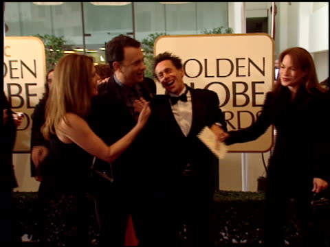 vídeos de stock, filmes e b-roll de brian grazer at the 1999 golden globe awards at the beverly hilton in beverly hills california on january 24 1999 - brian grazer