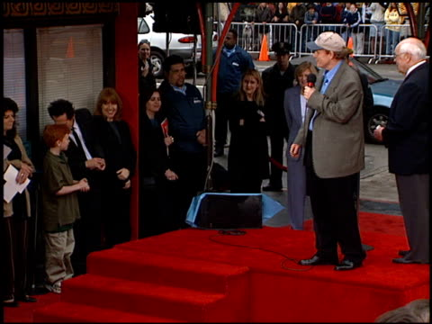 vídeos de stock, filmes e b-roll de brian grazer at the dedication of ron howard's footprints at grauman's chinese theatre in hollywood california on march 22 1999 - ron howard