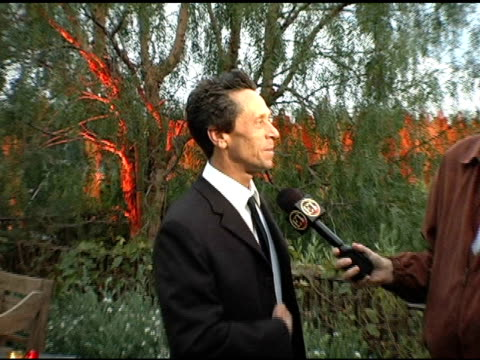 vídeos de stock, filmes e b-roll de brian grazer is interviewed by the press at the in the face of jinn release party at private residence in pacific palisades california on april 18... - brian grazer