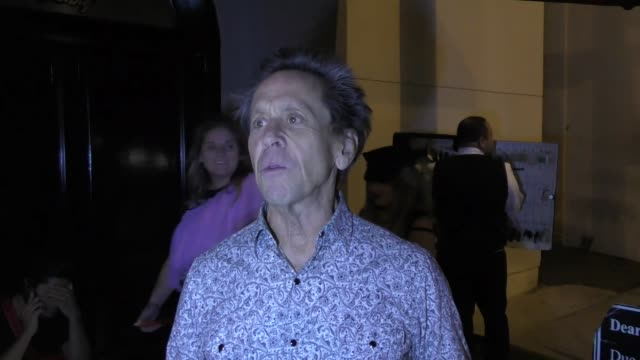 vídeos de stock, filmes e b-roll de interview brian grazer on the la dodgers in the world series outside craig's in west hollywood at celebrity sightings in los angeles on october 27... - brian grazer