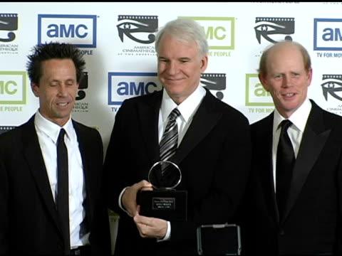 brian grazer steve martin and ron howard at the 19th annual american cinematheque award honoring steve martin at the beverly hilton in beverly hills... - スティーブ マーティン点の映像素材/bロール