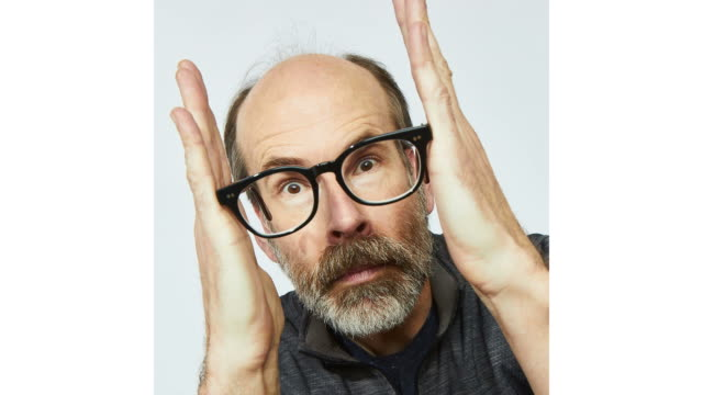 brian huskey from 'mope' poses for a portrait in the pizza hut lounge in park city utah on january 27 2019 in park city utah - park city utah video stock e b–roll