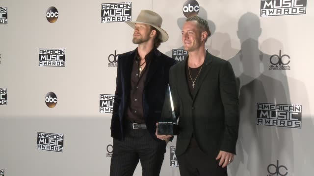 brian kelley and tyler hubbard at 2016 american music awards at microsoft theater on november 20 2016 in los angeles california - american music awards stock videos and b-roll footage