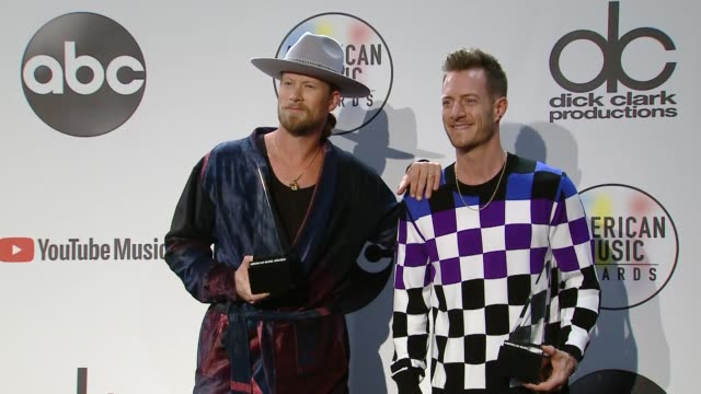 Brian Kelley and Tyler Hubbard at the 2018 American Music Awards at Microsoft Theater on October 09 2018 in Los Angeles California
