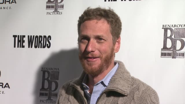 brian klugman at acura hosts 'the words' cast dinner at the acura studio in park city utah on 1/26/2012 - park city utah stock videos and b-roll footage